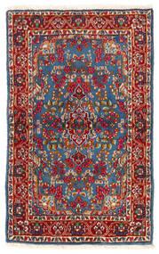 ケルマン 絨毯 92X149 オリエンタル 手織り 深紅色の/青 (ウール, ペルシャ/イラン)