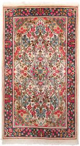 ケルマン 絨毯 87X155 オリエンタル 手織り 濃いグレー/ベージュ (ウール, ペルシャ/イラン)