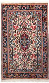 ケルマン 絨毯 90X150 オリエンタル 手織り 深紅色の/ベージュ (ウール, ペルシャ/イラン)