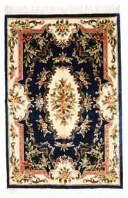 中国 Art シルク 120 Line 絨毯 122X183 オリエンタル 手織り 濃い紫/ベージュ ( 中国)