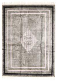 中国 Art シルク 120 Line 絨毯 170X230 オリエンタル 手織り 薄い灰色/ホワイト/クリーム色 ( 中国)
