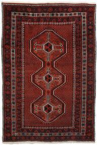 アフシャル 絨毯 150X225 オリエンタル 手織り 深紅色の/濃い茶色 (ウール, ペルシャ/イラン)