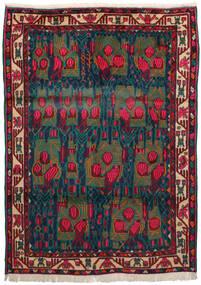 アフシャル 絨毯 163X228 オリエンタル 手織り 深紅色の/紺色の/ターコイズ (ウール, ペルシャ/イラン)