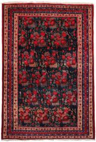 アフシャル 絨毯 157X228 オリエンタル 手織り 深紅色の/紺色の (ウール, ペルシャ/イラン)