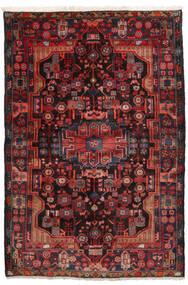 ナハバンド 絨毯 152X245 オリエンタル 手織り 深紅色の/黒 (ウール, ペルシャ/イラン)