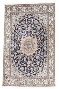 ナイン 絨毯 161X259 オリエンタル 手織り 薄い灰色/ベージュ (ウール, ペルシャ/イラン)