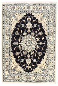 ナイン 絨毯 170X250 オリエンタル 手織り ホワイト/クリーム色/黒 (ウール, ペルシャ/イラン)