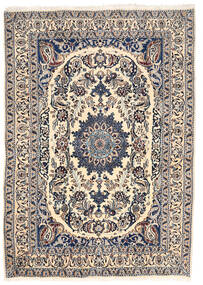 ナイン 絨毯 162X228 オリエンタル 手織り 薄い灰色/ベージュ (ウール, ペルシャ/イラン)