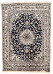 ナイン 絨毯 166X238 オリエンタル 手織り 薄い灰色/濃い紫 (ウール, ペルシャ/イラン)