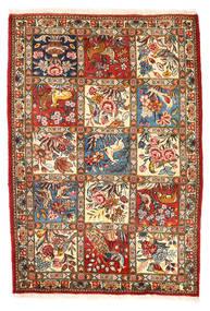 バクティアリ Collectible 絨毯 110X157 オリエンタル 手織り 濃いグレー/ベージュ (ウール, ペルシャ/イラン)