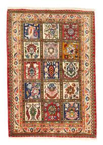 バクティアリ Collectible 絨毯 105X150 オリエンタル 手織り 赤/濃いグレー (ウール, ペルシャ/イラン)