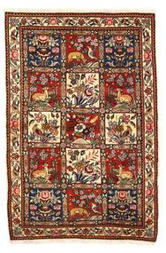 バクティアリ Collectible 絨毯 115X170 オリエンタル 手織り 濃い茶色/ホワイト/クリーム色 (ウール, ペルシャ/イラン)