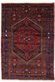 ザンジャン 絨毯 138X205 オリエンタル 手織り 深紅色の/濃い茶色 (ウール, ペルシャ/イラン)