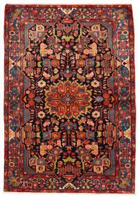 ナハバンド オールド 絨毯 160X230 オリエンタル 手織り 深紅色の/錆色 (ウール, ペルシャ/イラン)