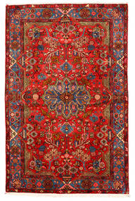 ナハバンド オールド 絨毯 155X238 オリエンタル 手織り 深紅色の/濃い茶色 (ウール, ペルシャ/イラン)