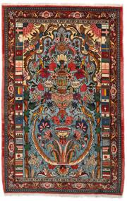 バクティアリ Collectible 絨毯 103X158 オリエンタル 手織り 濃い茶色/ターコイズ (ウール, ペルシャ/イラン)
