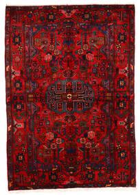 ナハバンド オールド 絨毯 162X243 オリエンタル 手織り 深紅色の/錆色 (ウール, ペルシャ/イラン)