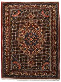 バクティアリ Collectible 絨毯 113X144 オリエンタル 手織り 濃い茶色/深紅色の (ウール, ペルシャ/イラン)