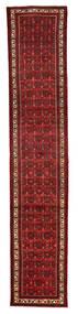 ホセイナバード 絨毯 74X388 オリエンタル 手織り 廊下 カーペット 深紅色の/濃い茶色 (ウール, ペルシャ/イラン)
