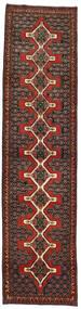 センネ 絨毯 93X380 オリエンタル 手織り 廊下 カーペット 深紅色の/濃い茶色 (ウール, ペルシャ/イラン)