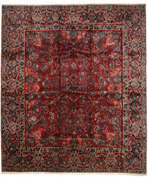 サルーク 絨毯 420X485 オリエンタル 手織り 深紅色の/濃い茶色 大きな (ウール, ペルシャ/イラン)