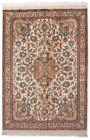 カシミール ピュア シルク 絨毯 65X94 オリエンタル 手織り 薄茶色/濃い茶色 (絹, インド)