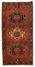 アルデビル 絨毯 148X293 オリエンタル 手織り 廊下 カーペット 濃い茶色/錆色 (ウール, ペルシャ/イラン)