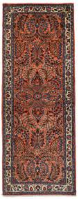 サルーク 絨毯 72X190 オリエンタル 手織り 廊下 カーペット 深紅色の/黒 (ウール, ペルシャ/イラン)