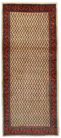 サルーク Mir 絨毯 86X200 オリエンタル 手織り 廊下 カーペット 濃い茶色/深紅色の (ウール, ペルシャ/イラン)