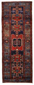 ハマダン 絨毯 109X290 オリエンタル 手織り 廊下 カーペット 濃い茶色/深紅色の (ウール, ペルシャ/イラン)