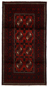 マシュハド 絨毯 100X194 オリエンタル 手織り 濃い茶色/赤 (ウール, ペルシャ/イラン)