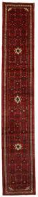 ホセイナバード 絨毯 65X388 オリエンタル 手織り 廊下 カーペット 深紅色の/濃い茶色 (ウール, ペルシャ/イラン)