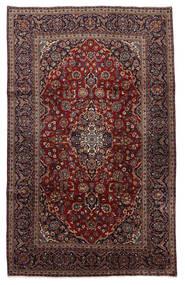 カシャン 絨毯 210X326 オリエンタル 手織り 黒/濃い茶色 (ウール, ペルシャ/イラン)