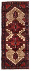 ハマダン 絨毯 99X246 オリエンタル 手織り 廊下 カーペット 深紅色の (ウール, ペルシャ/イラン)