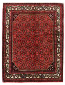 ホセイナバード 絨毯 150X193 オリエンタル 手織り 深紅色の/濃い茶色 (ウール, ペルシャ/イラン)