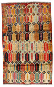 Moroccan Berber - Afghanistan 絨毯 112X184 モダン 手織り 濃い茶色/赤 (ウール, アフガニスタン)