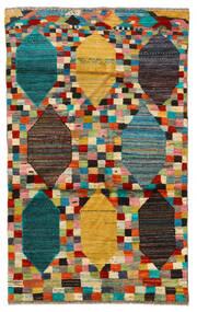 Moroccan Berber - Afghanistan 絨毯 117X190 モダン 手織り 黒/薄茶色 (ウール, アフガニスタン)