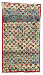 Moroccan Berber - Afghanistan 絨毯 101X178 モダン 手織り 濃いグレー/薄い灰色 (ウール, アフガニスタン)