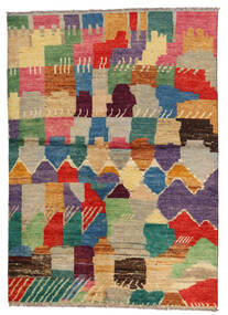 Moroccan Berber - Afghanistan 絨毯 144X202 モダン 手織り 薄い灰色/青 (ウール, アフガニスタン)