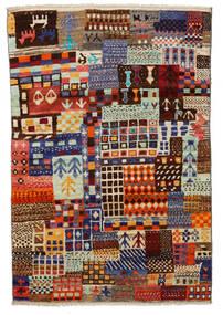 Moroccan Berber - Afghanistan 絨毯 115X171 モダン 手織り 深紅色の/薄い灰色 (ウール, アフガニスタン)