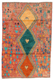 Moroccan Berber - Afghanistan 絨毯 114X175 モダン 手織り 赤/オレンジ (ウール, アフガニスタン)