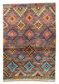 Moroccan Berber - Afghanistan 絨毯 89X130 モダン 手織り 薄茶色/濃い茶色 (ウール, アフガニスタン)
