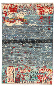 Moroccan Berber - Afghanistan 絨毯 89X140 モダン 手織り 薄い灰色/青 (ウール, アフガニスタン)