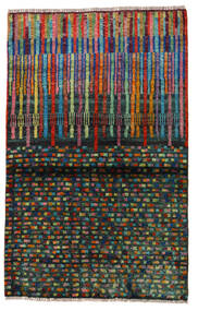 Moroccan Berber - Afghanistan 絨毯 88X140 モダン 手織り 濃いグレー (ウール, アフガニスタン)