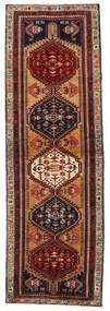アルデビル 絨毯 103X324 オリエンタル 手織り 廊下 カーペット 濃い茶色/深紅色の (ウール, ペルシャ/イラン)