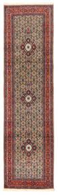 ムード 絨毯 80X294 オリエンタル 手織り 廊下 カーペット 深紅色の/濃い茶色 (ウール/絹, ペルシャ/イラン)