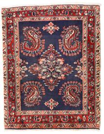 サルーク 絨毯 75X96 オリエンタル 手織り 濃い紫/深紅色の (ウール, ペルシャ/イラン)