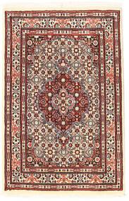 ムード 絨毯 56X89 オリエンタル 手織り 濃い茶色/深紅色の (ウール/絹, ペルシャ/イラン)