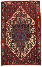 センネ 絨毯 65X105 オリエンタル 手織り 深紅色の/黒 (ウール, ペルシャ/イラン)