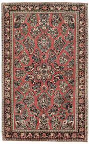 サルーク American 絨毯 122X198 オリエンタル 手織り 薄い灰色/茶 (ウール, インド)